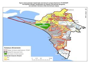 Карта обходы Анапский
