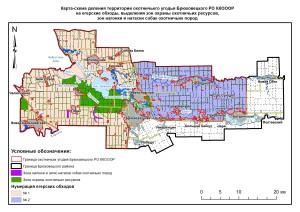 Карта обходы и зоны Брюховецкая РО