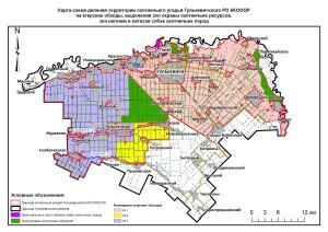 Карта обходы и зоны Гулькевичская РО
