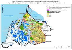 Карта обходы и зоны Приморско-Ахтарская РО