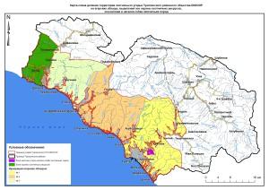 Карта обходы и зоны Туапсинская РО
