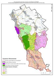 карта Обходы и зоны Лабинское РО